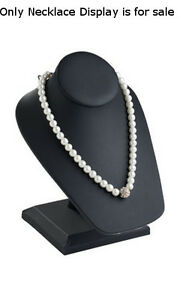 New Black Leatherette Necklace Display On Stand 6 l X 7 w X 8 h