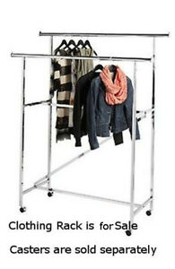 Double Rail Garment Rack Chrome With Z Brace
