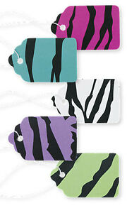 Pack Of 500 New Retails Bright Zebra Print Paper Price Tags 1 1 16 w X 1 h