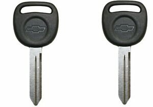 2 New Oem Ignition Bow Tie Key Uncut Blade Blank For Gm Chevy Truck Van