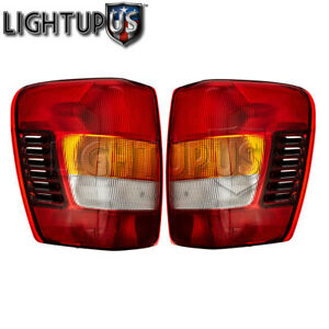 Left Right Sides Pair Rear Brake Tail Lights For 2002 2004 Jeep Grand Cherokee