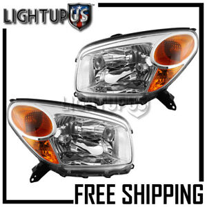 2004 2005 Toyota Rav4 Rav 4 Left Right Sides Pair Headlights Headlamps