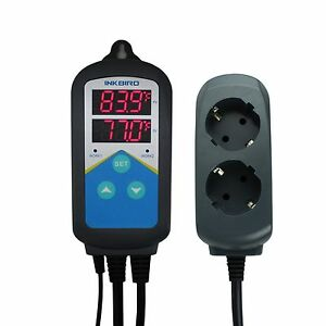 220v Digital Temperature Controller Thermostat W Thermocouple Sensor Itc 306t