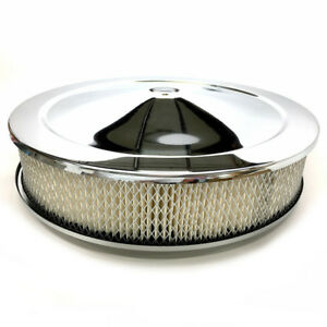 Bandit Air Cleaner Assembly 8000k Muscle Car Chrome Steel Round 14 X 3