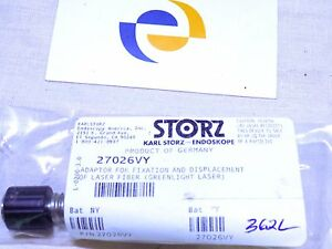 Karl Storz 27026vy Adaptor For Fixation And Displacement Of Laser Fiber