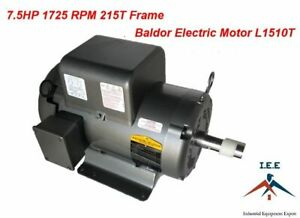 7 5hp Single Phase Baldor Electric Compressor Motor 215t Frame 1725 Rpm 230 Volt