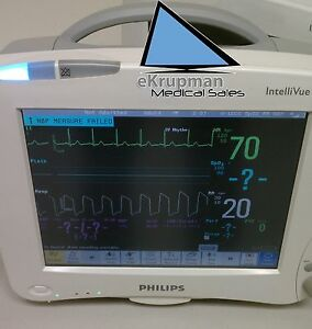 Philips Intellivue Mp50 Patient Monitor Great Condition With Module Nibp Etc