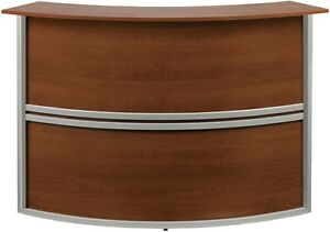 Marque Reception Station Add on Unit In Cherry Finish Front Desk Station