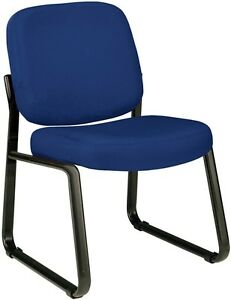 Heavy Duty Navy Fabric Reception Office Side Chair Waiting Room Office Chair
