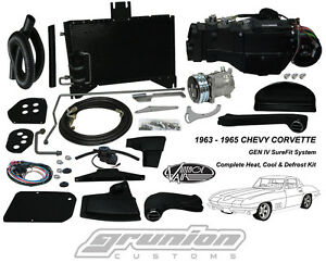 Chevy Corvette W o Ac 1963 1965 Air Conditioning Heat Defrost Vintage Air Kit