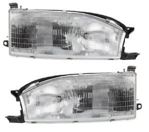 1992 1994 Toyota Camry Head Light Lamp Right And Left Set