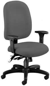 Medical Office Task Chair In Gray Fabric W arms Hospital Clinic Office Chair