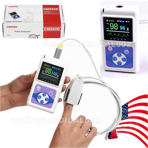 Cms60d Color Oled Finger Tip Pulse Oximeter Handheld Spo2 Monitor Pulse Rate sw