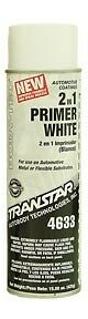 Case Of 6 Cans Transtar 2 In 1 Primer White Part Tre 4633 Great Price