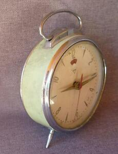 Vintage 1970 S Clock Stainless Steel Made In Shangai 4 Diameter Weight 11oz