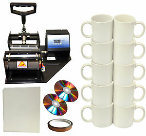New Mug cup Heat Press heat Transfer Paper tape diy Sublimation Coffee Mugs 110v