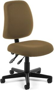 Adjustable Height Medical Office Task Chair In Taupe Fabric clinic Office Chair
