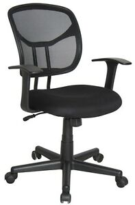 Medical Office Task Chair In Black Fabric Clinic Receptionist Office Chair