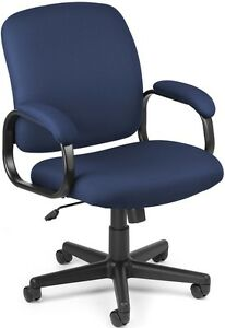 Executive Low back Medical Office Task Chair Navy Fabric Arm Doctor Chair