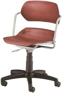 Medical Office Contour Plastic Task Chair W arm Wine Seat clinic Office Chair