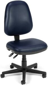 Anti bacterial Medical Office Task Chair In Navy Vinyl Clinic Office Chair