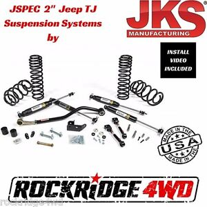 Jspec 2 Suspension Lift Kit System For 1997 2006 Jeep Wrangler Tj Jks Usa Made