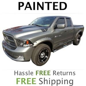 New Fits 2011 2012 Dodge Ram 1500 Fender Flares Painted To Match Pocket Style