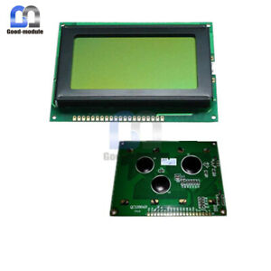 5v 12864 Lcd Display Module 128x64 Dots Graphic Matrix Yellow Green Backlight Gm