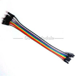 10pcs 10 Root Dupont Wire Cables 2 54mm 20cm 1p 1p Female To Female F Arduino