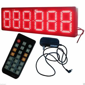 Giant Large 8 Led Counter Led Number Counter 6 Digits Semioutdoor Red Color
