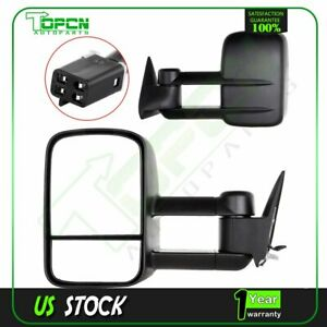 Power Tow Side Mirror Pair For 88 98 Chevy Gmc C K 1500 2500 3500 Towing Mirrors