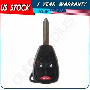 New Uncut Remote Head Key Fob Keyless Entry Transmitter For Chrysler Dodge Jeep