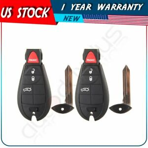 2x New Uncut Replacement Key Fob Keyless Entry Remote Transmitter For Fobik 4btn