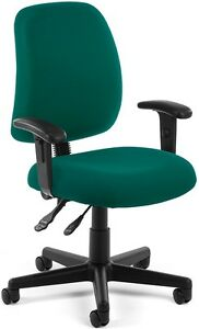 Medical Office Task Chair W arms Fabric Clinic Receptionist Office Chair