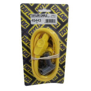 Taylor Single Lead Spark Plug Wire 45443 8mm Yellow Spiral Core 90 180