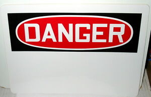 Lot Of Construction Signs For Office Job Site 6 Signs Danger Write On Type 56g