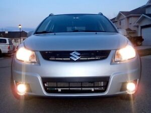Bumper Fog Lamps Driving Lights Kit With Built in Drls For 2006 2014 Suzuki Sx4