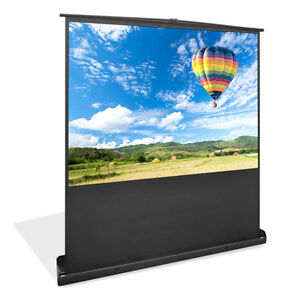 New Prjsf1009 100 inch Standing Portable Easy Roll up Pull out Projection Screen