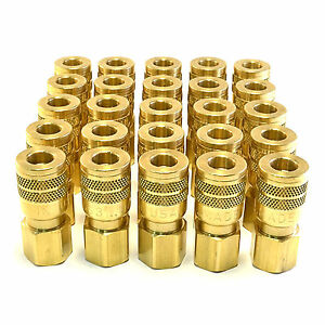 25 Foster Sg3203 3 8 Female Npt X 1 4 Industrial Quick Coupler Brass Fitting