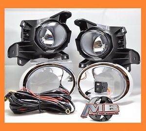 Fits 2013 2014 2015 2016 Nissan Pathfinder Chrome Trim Clear Lens Fog Light Lamp