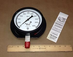 Marsh 1 lyh 29970 akc High Pressure Gauge 0 4000psi 210 3ss 3 16 Stainless S