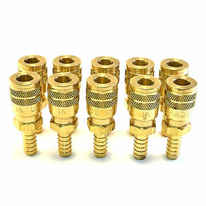 10 Foster Sg3703 3 8 Id Hose Barb X 1 4 Industrial Coupler Brass Air Fitting