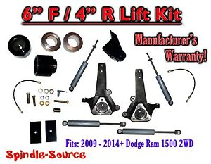 2009 2018 Dodge Ram 1500 6 4 Lift Kit 2wd Only Hemi Non Hemi Shocks