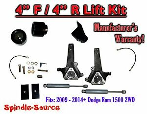 2009 2018 Dodge Ram 1500 4 4 Spindle Lift Kit 2wd Only Rear Shocks