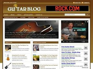 Hot Learn Acoustic Electric Guitar Tips Wordpress Blog Website For Sale