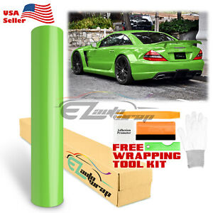 premium Gloss Glossy Green Vinyl Car Wrap Sticker Decal Bubble Free Sheet Film