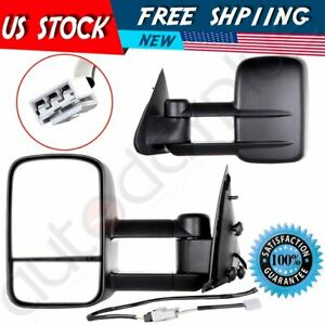 Side Mirrors Power Tow Towing Mirrors For Ford F150 F250 Light Duty Pickup Pair
