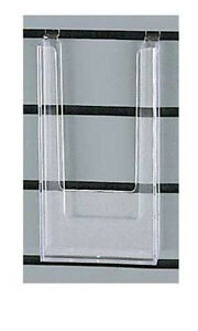Count Of 5 New Styrene Literature Holder 4 w X 8 h X 1 d