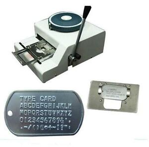 52d Manual Steel Dog Tag Embosser Id Card Military Embossing Stamping Machine H