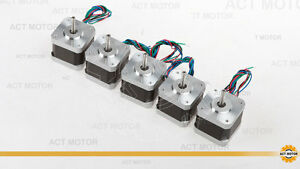 5pc 12v Nema17 Stepper Motor 45oz 0 4a 34mm 17hs3404 For 3d Printer reprap Ce